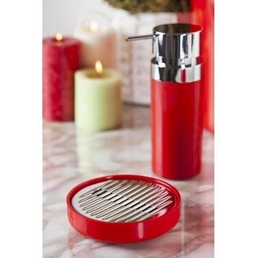 Primanova Lenox Kırmızı 5 Parça Banyo Seti Renkli